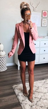18 Impressive Pink Work Outfits Ideas For Girls 05