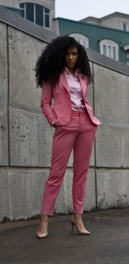 18 Impressive Pink Work Outfits Ideas For Girls 13