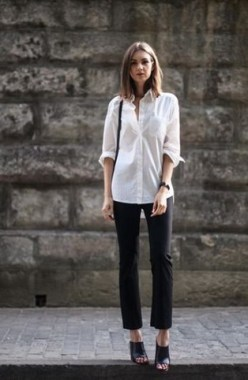 19 Gorgeous White Shirt Ideas For Summer 2019 25