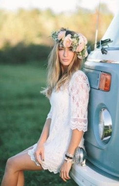 21 Charming Boho Chic Wedding Dresses Ideas 25