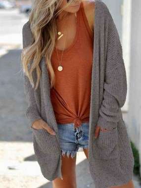 21 Cozy Summer Women Fashion Ideas With Cardigan You Need Try 06