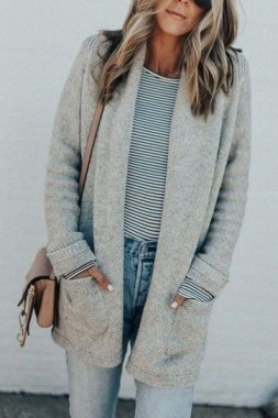 21 Cozy Summer Women Fashion Ideas With Cardigan You Need Try 12