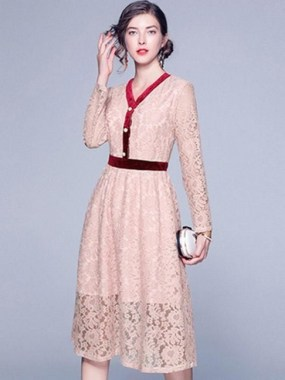 18 Attractive Lace Shift Dress Outfit Ideas For Spring 15