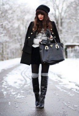 18 Awesome Sock Boots Winter Outfits Ideas 13