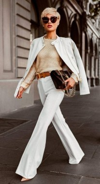 18 Stunning White Fashion Style Ideas Suitable For Fall 04