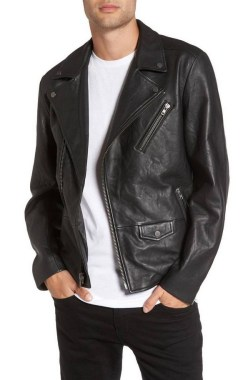 19 Adorable Ways To Wear A Leather Jacket For Men 12