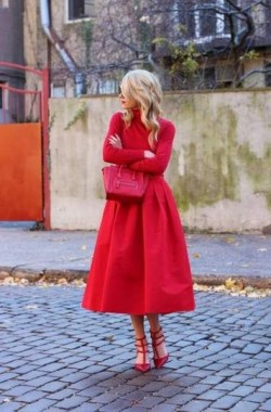 19 Cute Red Dress Outfit Ideas For Valentines Day 13