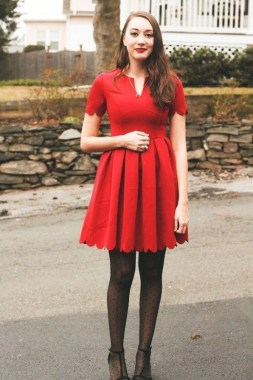 19 Cute Red Dress Outfit Ideas For Valentines Day 23