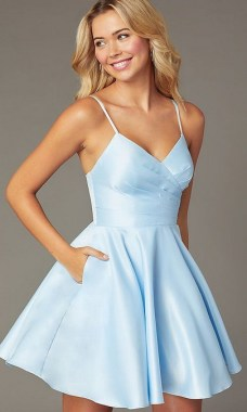 19 Fantastic Pleated Homecoming Dress Ideas 11