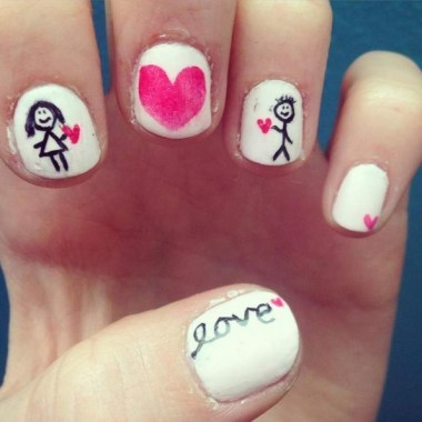 28 Free Valentine's Day Nail Ideas That We Are Not Tacky 2019 32