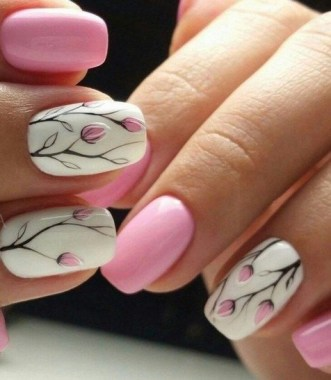 22 Cute Flower Nail Art To Try For The Spring 11
