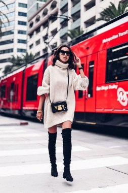 22 Ways To Combine Winter Boots And Sweaters 05