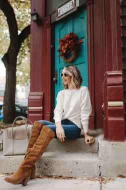24 Casual Boots You Can Wear For Thanksgiving And Christmas Parties 27