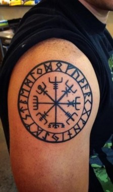 26 Amazing Compass Tattoo Design For Men 24