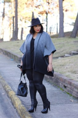 26 Awesome Dark Colour Outfit Ideas For Curvy Women 29