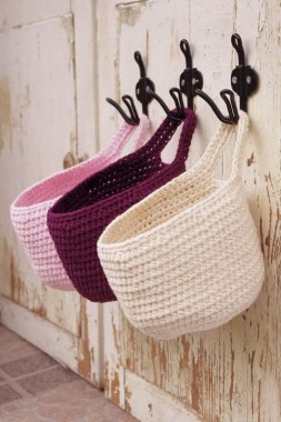 28 Amazing Crochet Baskets For Free Ideas 16