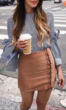 29 This Classy Skirt Is Your Best Choice For Work During Fall 06