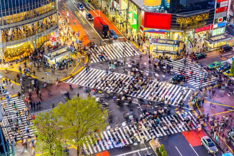 Fotos de Tokio en Japon, cruce de Shibuya