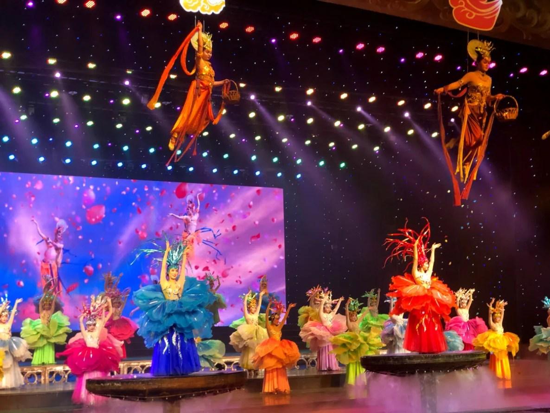 Espectaculo de opera china en Tunxi