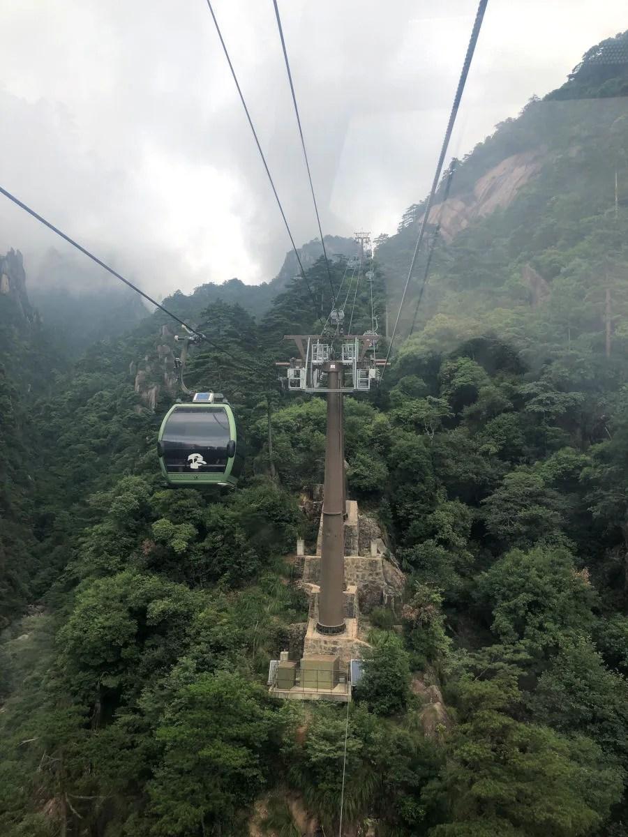 Teleferico de Huangshan en China