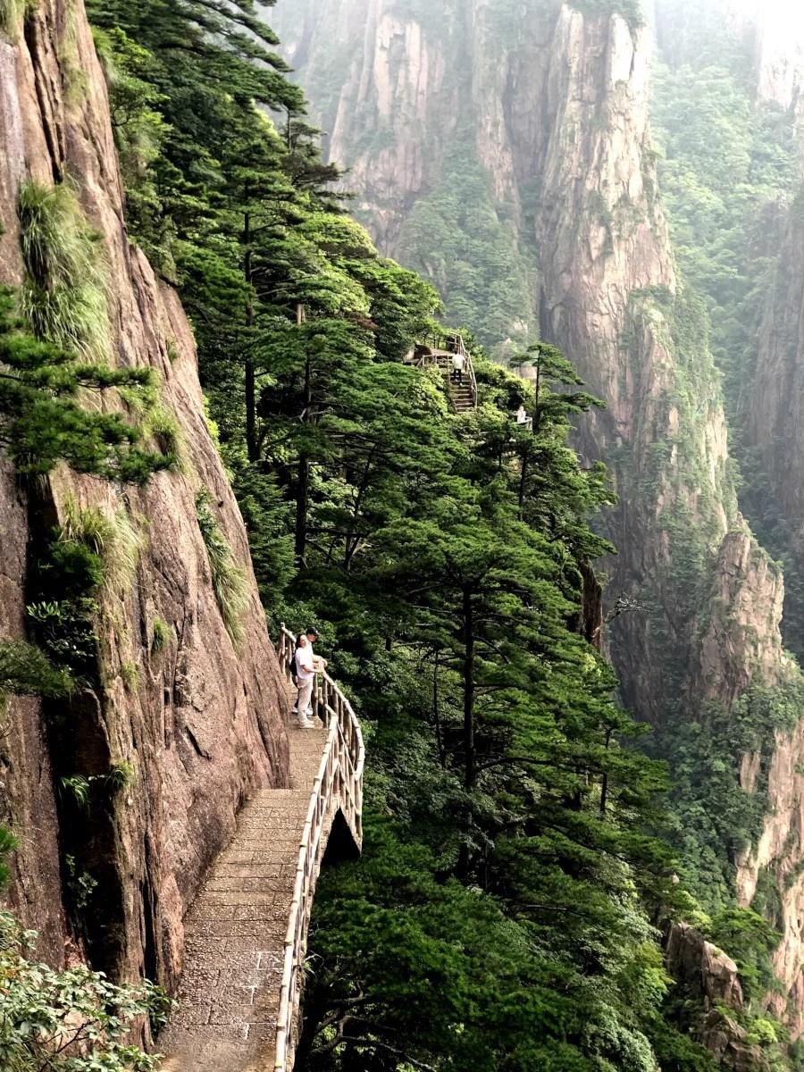 Vero en la Montaña Amarilla, Huangshan en China