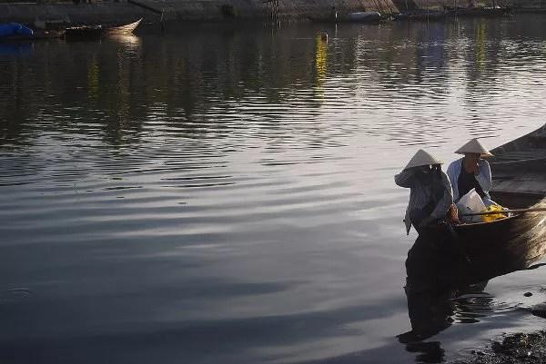 Atardecer en el río Thu Bon de Hoi An