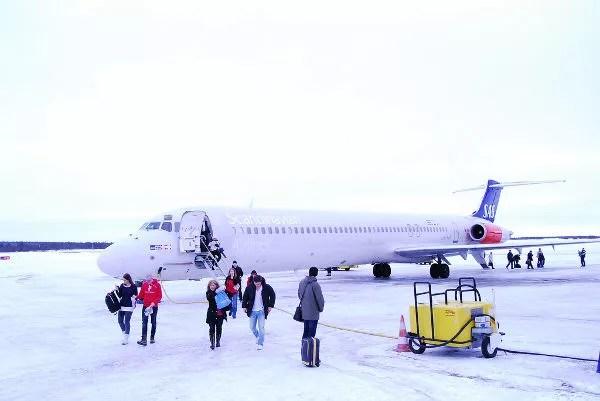 Aterrizando en el Aeropuerto de Kiruna
