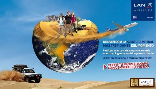 Ayúdame a ganar el Dakar de LAN Airlines