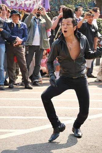 Baile rockabilly en el Yoyogi koen