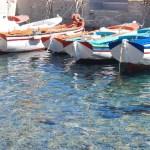 Fotos en Santorini, barcas en Thirassia