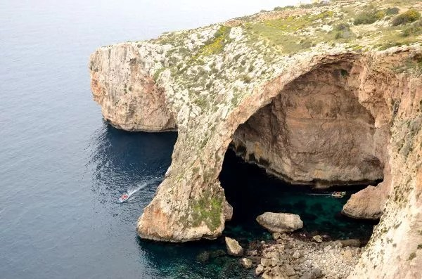 Blue Grotto o Gruta Azul en Malta