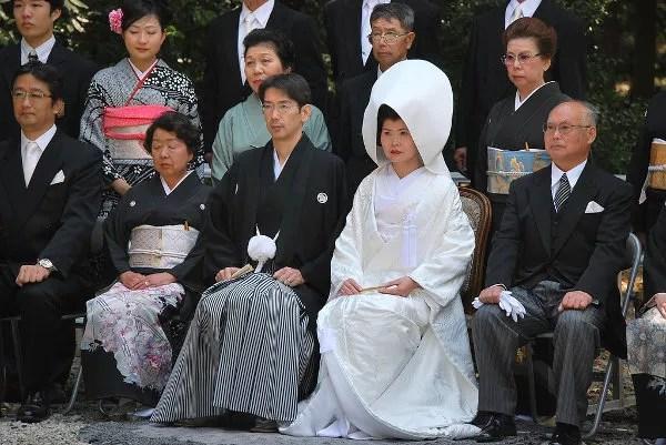 Boda japonesa en el Meiji Jingu de Tokio