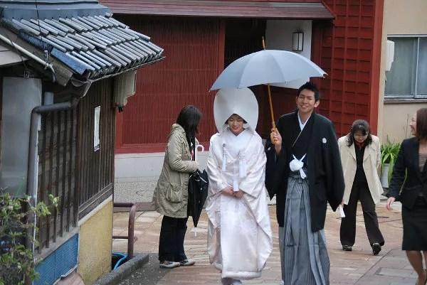 Boda tradicional japonesa en Kanazawa