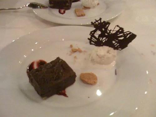 Brownie con helado de vainilla del Cal Xim