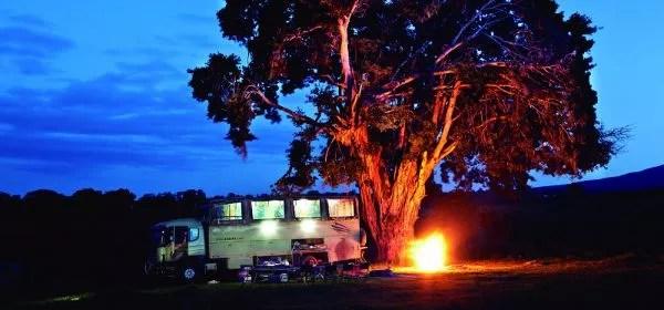 Campamento de Endake en África