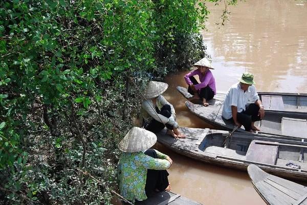 Descansando en el Delta del Mekong