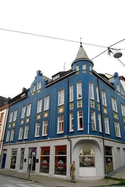 Edificio Art Noveau en Alesund, Noruega