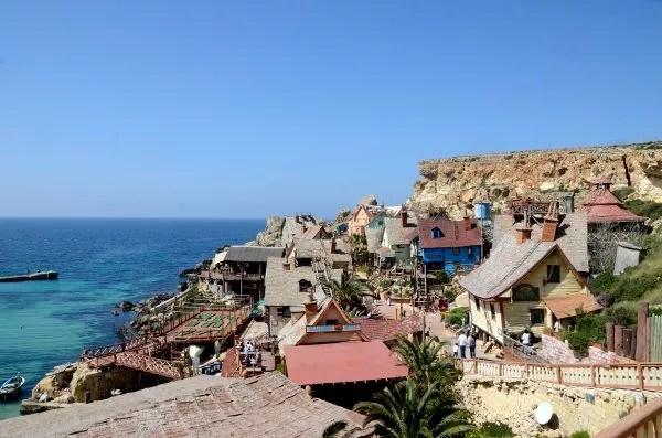 Edificios de la Popeye Village de Malta