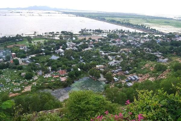 El Delta del Mekong desde el monte Sam en Chau Doc