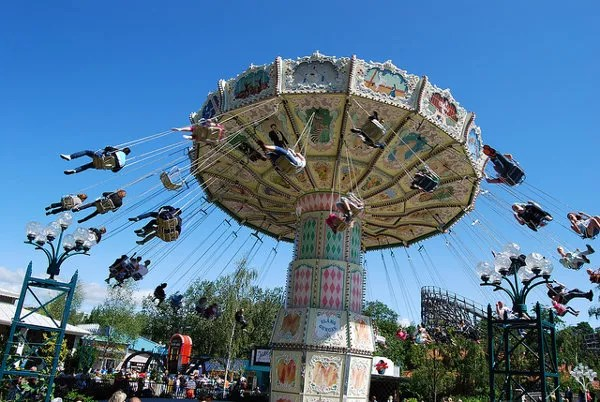 El parque de atracciones Liseberg de Gotemburgo