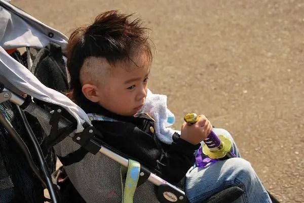 El pequeño samurai en el parque Yoyogi de Tokio