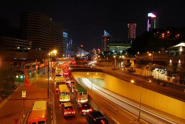 El tráfico de Tsim Sha Tsui