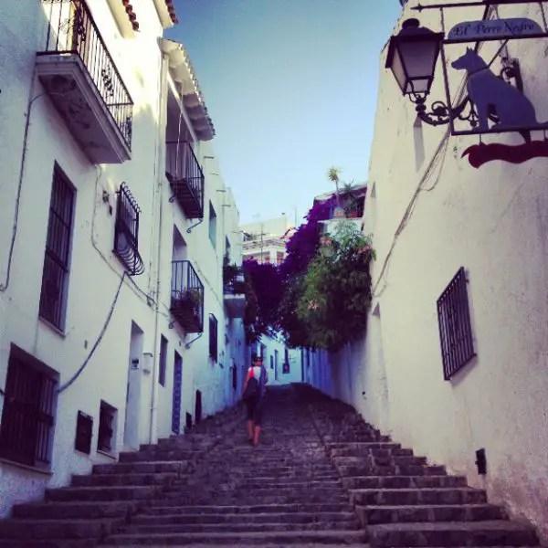 Escaleras en Altea