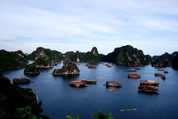 Fotos Bahía de Ha Long en Vietnam, desde lo alto