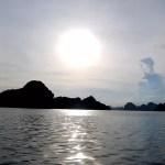 Fotos Bahía de Ha Long en Vietnam, puesta de sol