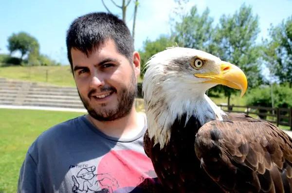Fotos Parque de Cabárceno en Cantabria, Pau y el águila