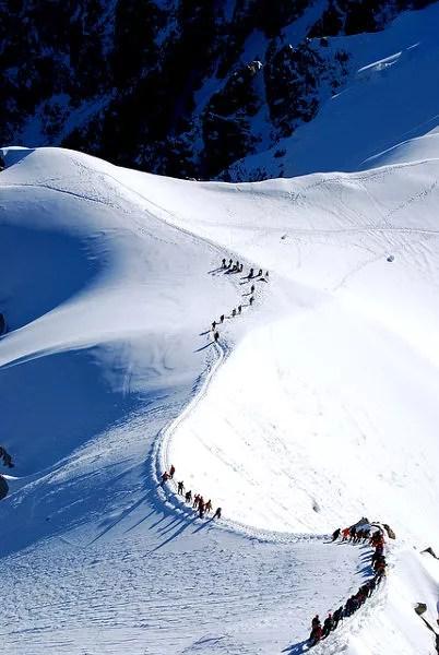 Fotos de Aiguille du Midi en Francia, Alpinistas en el macizo del Mont Blanc
