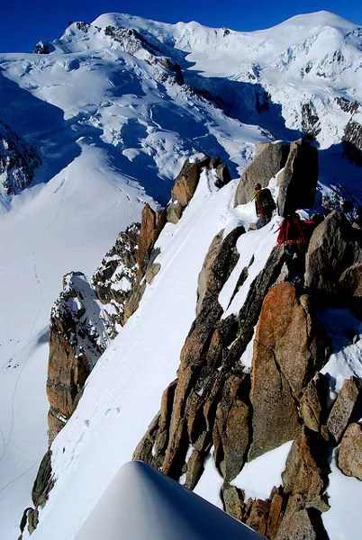 Fotos de Aiguille du Midi en Francia, alpinistas