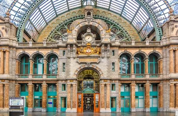 Fotos de Amberes en Flandes, Estacion Central