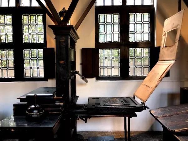 Fotos de Amberes en Flandes, prensa Museo Plantin Moretus